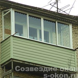 Балкон застеклить