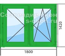 Цена зеленого пластикового окна