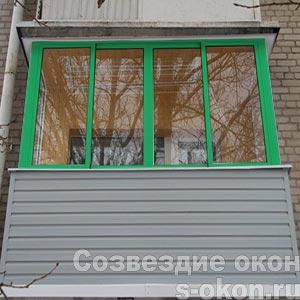 Остекление зелеными окнами