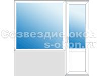 Балконный блок с большим окном
