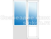 Обычный балконный блок