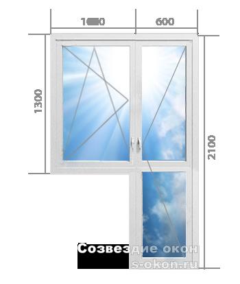 Балконный блок. Тип 2