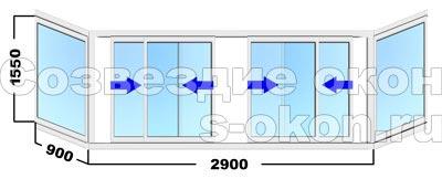 Раздвижное окно с пластиковой рамой