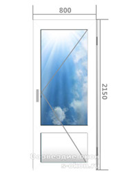 Цена алюминиевой двери со стеклом