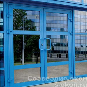 Двупольные алюминиевые двери