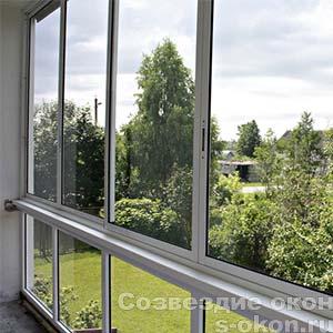 Раздвижные балконы из алюминиевого профиля