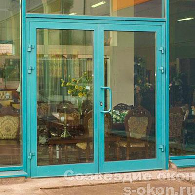 Алюминиевые двери входные со стеклом
