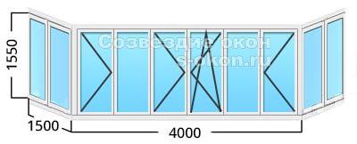 Сколько стоит застеклить пластиком балкон 6 метров