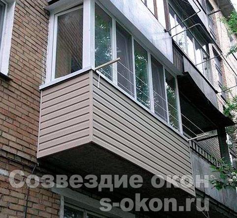 Застеклить балкон в пятиэтажке