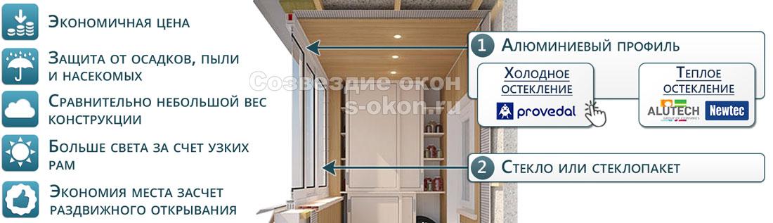 Балконные алюминиевые рамы