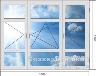 Цены на большие окна