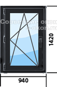 Цена на окна черного цвета