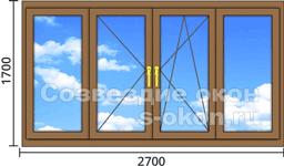 Цена деревянно-алюминиевых окон