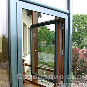 Дерево-алюминиевые окна из Германии