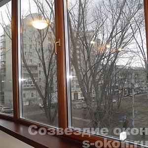 Окна из дерева и алюминия