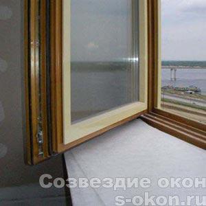 Окна из дерева с алюминиевыми накладками