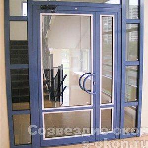 Дверь ПВХ со стеклом