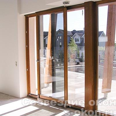 Раздвижные двери со стеклопакетом