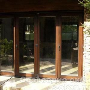Деревянные двери гармошки