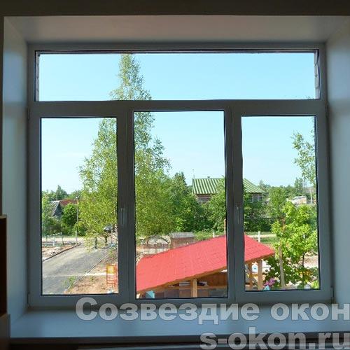 Пластиковые окна с двухкамерным стеклопакетом