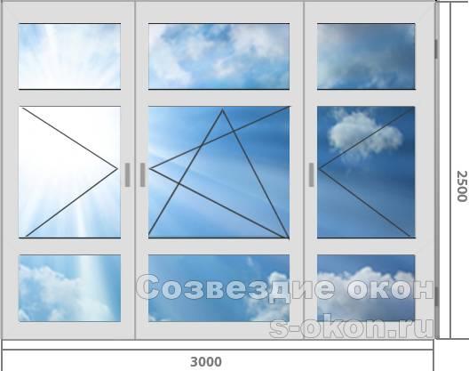 Цена французского окна