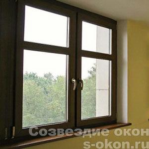 Окна коричневого цвета