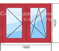 Цена красного пластикового окна