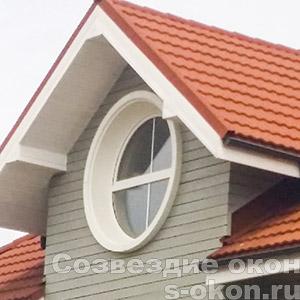 Фото круглых деревянных окон