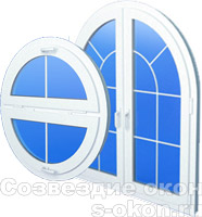 Круглое и арочное окно