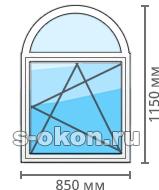 Стоимость арочного окна