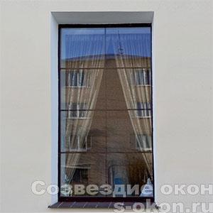 Ламинированные окна с раскладкой