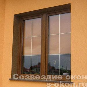 Ламинированные окна Рехау