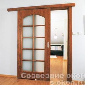 Фото одностворчатой межкомнатной двери-купе