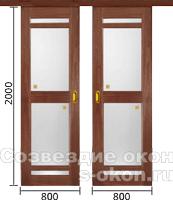 Межкомнатные двери-купе дешево