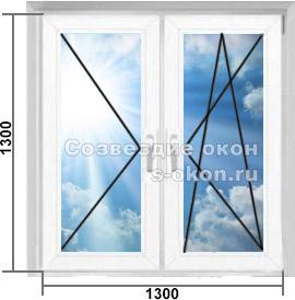 Двухстворчатое окно KBE или Rehau
