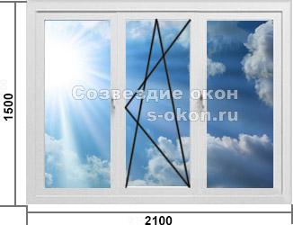 Трехстворчатое окно Рехау или КБЕ