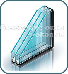 Окна с двухкамерными стеклопакетами