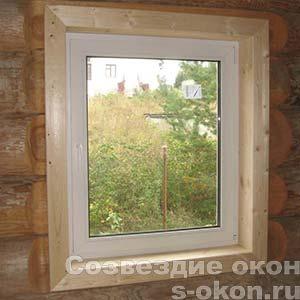 Пластиковое окно в баню