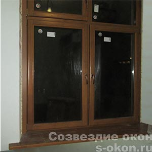 Окна из лиственницы со стеклопакетом от производителя