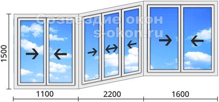 Цена на алюминиевые раздвижные окна для балкона