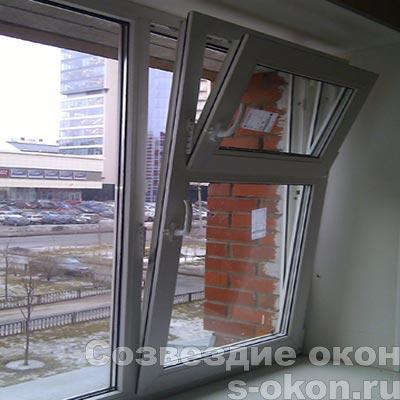 Пример окна с форточкой