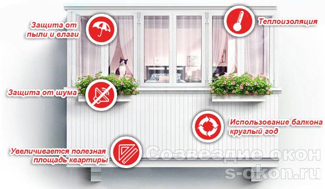 Преимущества остекления и утепления балкона