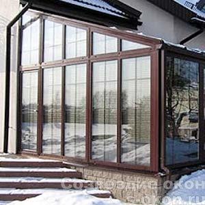 Алюминиевый зимний сад