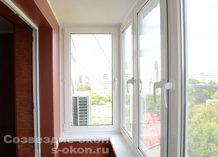Остекление балкона копэ пример