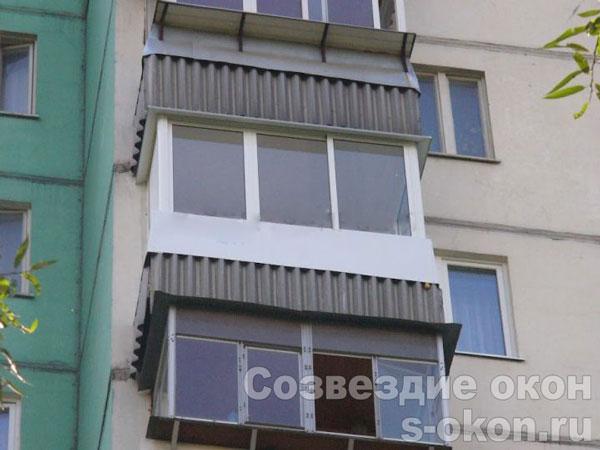 Пример остекления балконов п 3