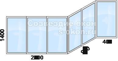Стоимость остекления балкона П44 сапожок