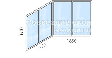 Цена остекления балкона П44Т лодочка