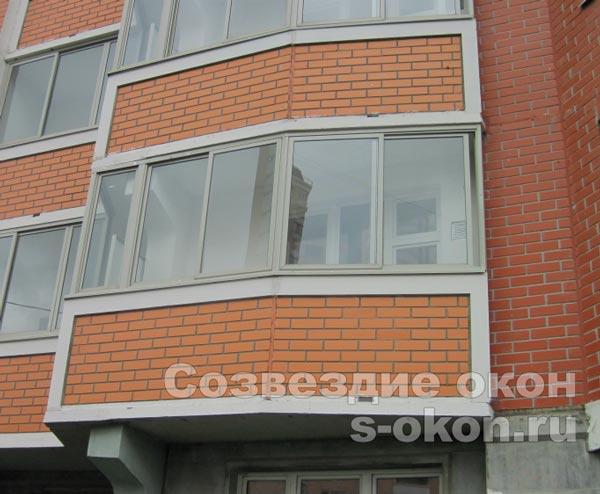 Пластиковые окна на балкон п44т