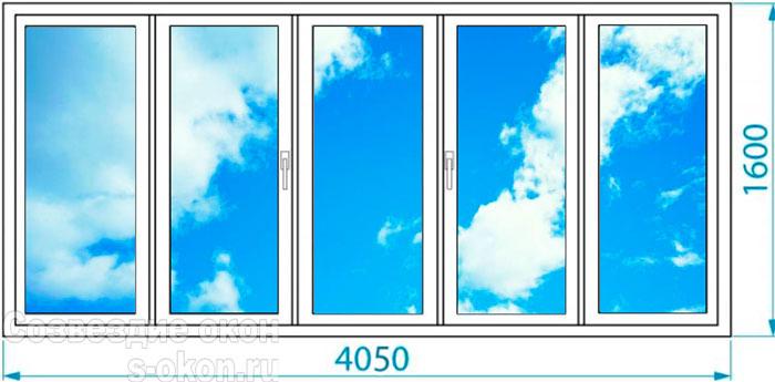 Цены остекления балкона П46