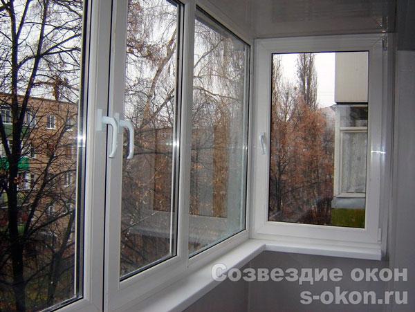 Пример остекления балконов п46